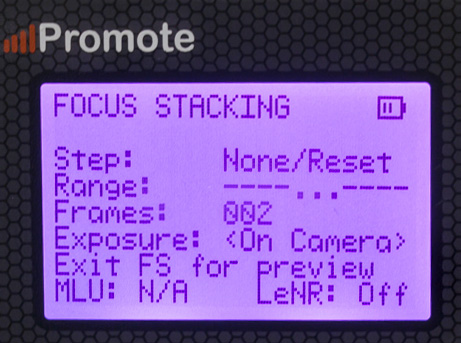 promote control focus stacking menu